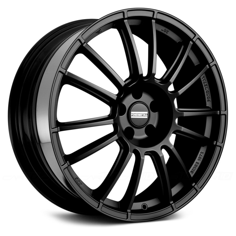 Fondmetal 174 9rr Wheels Matte Black Rims