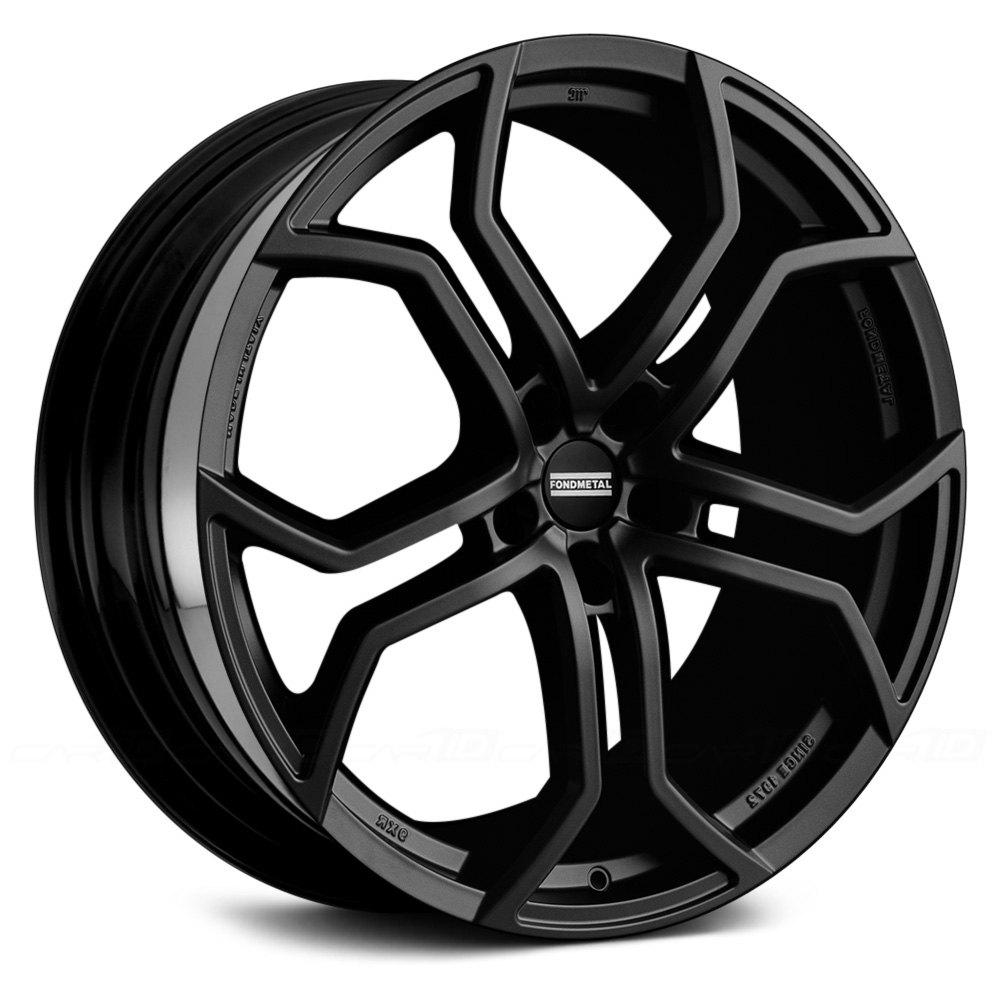 Fondmetal 174 9xr Wheels Matte Black Rims