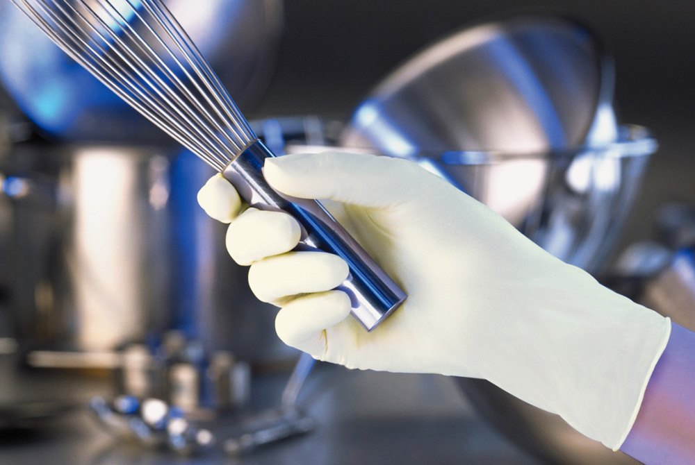 Silky thighs Latex gloves and food safety want fuck