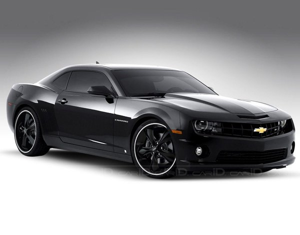black chevrolet clouds camaro - photo #35