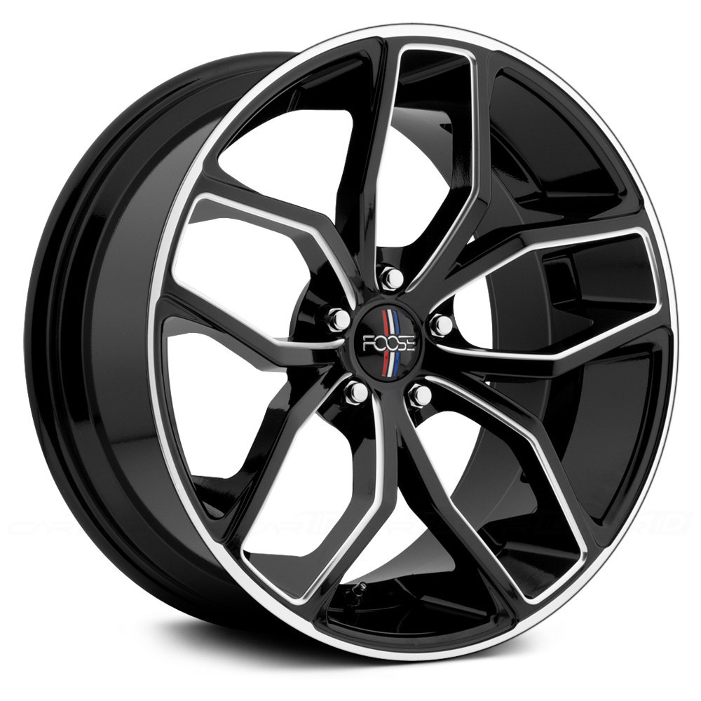 Foose 174 F150 Outcast Wheels Gloss Black With Milled