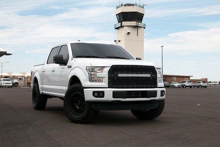 New f150 grille with built in led lightbar truck forums mozeypictures Choice Image