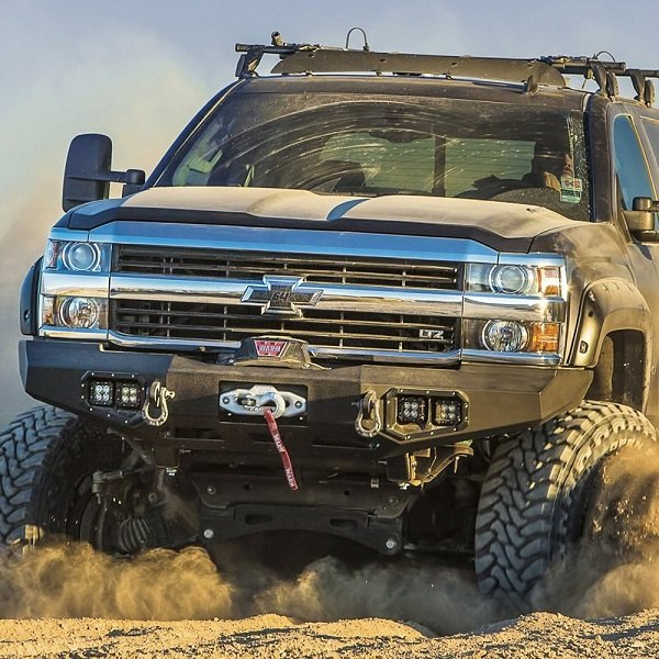 Duramax Winch Bumper : Advanced functionality for your silverado with warn ascent