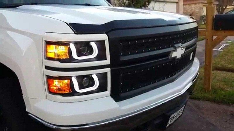 Silveradosierra Com Headlights With U Bar Led Drls