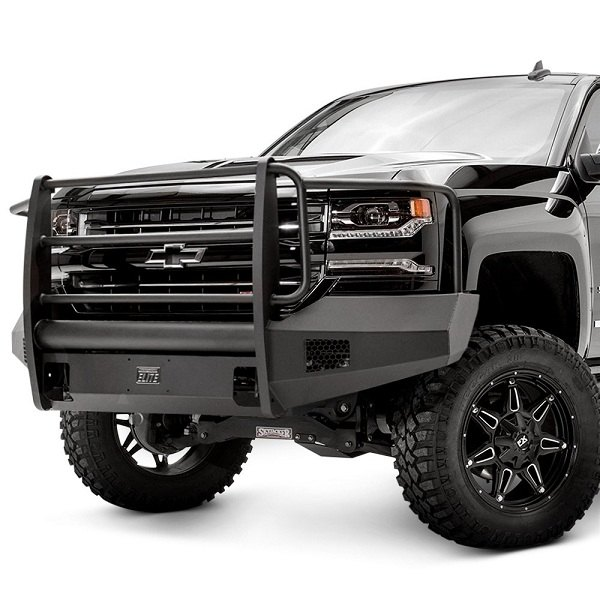 Duramax Winch Bumper : Fab fours elite front bumper for your chevy silverado