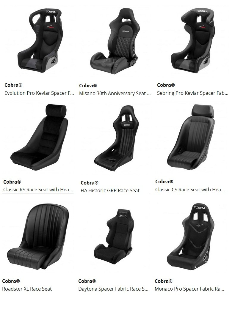 Cobra modern and retro style sport seats - MR2 Owners Club Message Board
