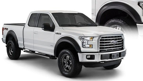 finally here 2015 f150 bushwacker fender flares ford. Black Bedroom Furniture Sets. Home Design Ideas