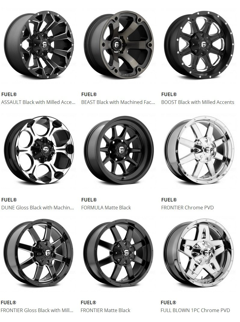 aftermarket off-road rims and tires at carid