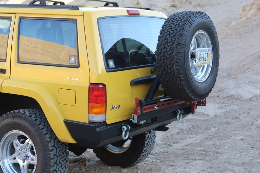 Xj Rear Bumper With Spare Tire Carrier By Rock Hard Jeep