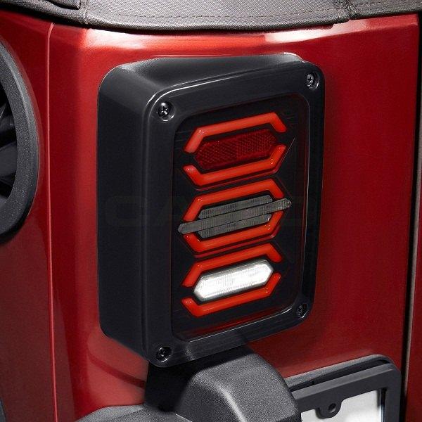 New Style Black Led Tail Lights For Jk