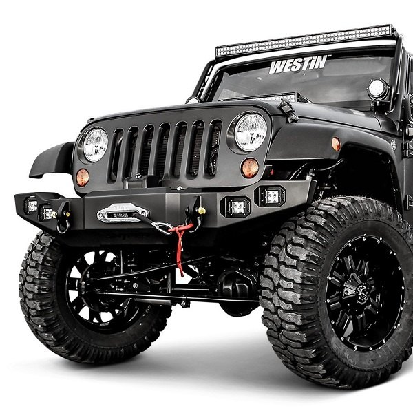Heavy Duty Front Steel Bumper With Winch Mount Da5645 For: -10% On All Heavy-duty Steel Bumpers From Westin At CARiD