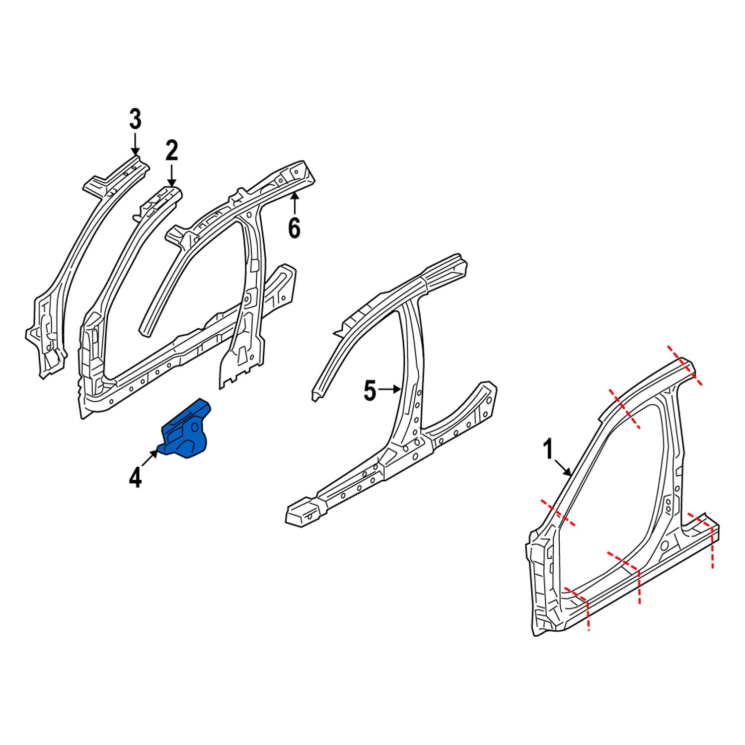 Genuine Ford 6E5Z-54024A14-A Cowl Panel Reinforcement