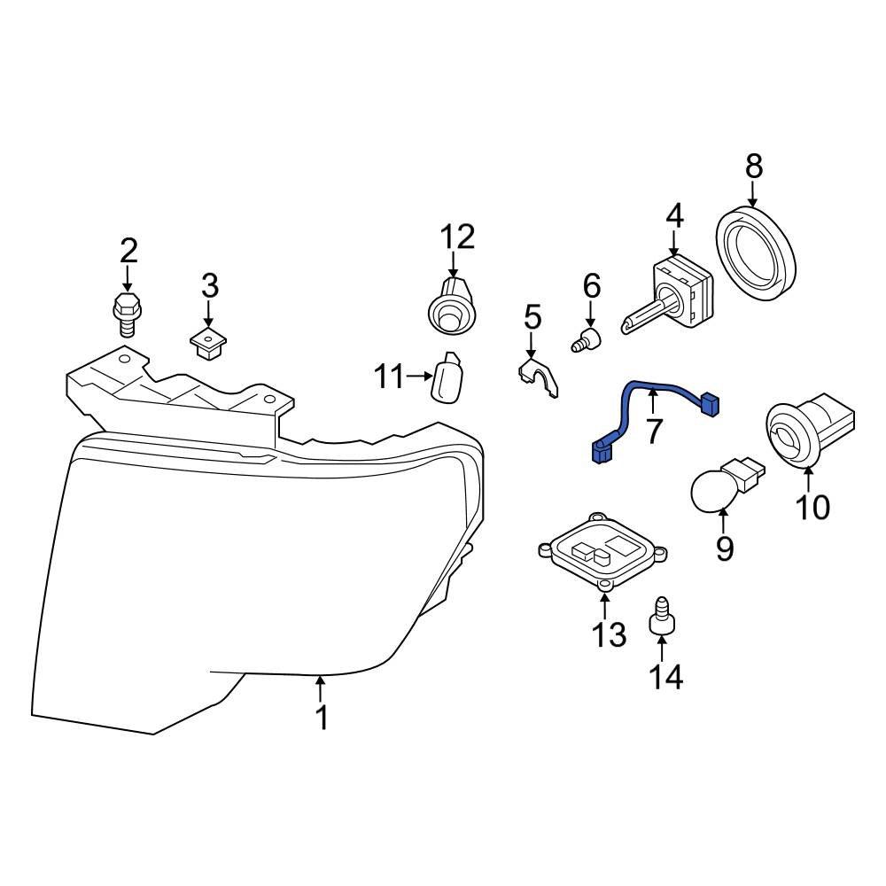 [SCHEMATICS_4ER]  Ford OE DL3Z13A006E - Front Left Headlight Wiring Harness | Ford Headlight Wiring Harness |  | CARiD.com