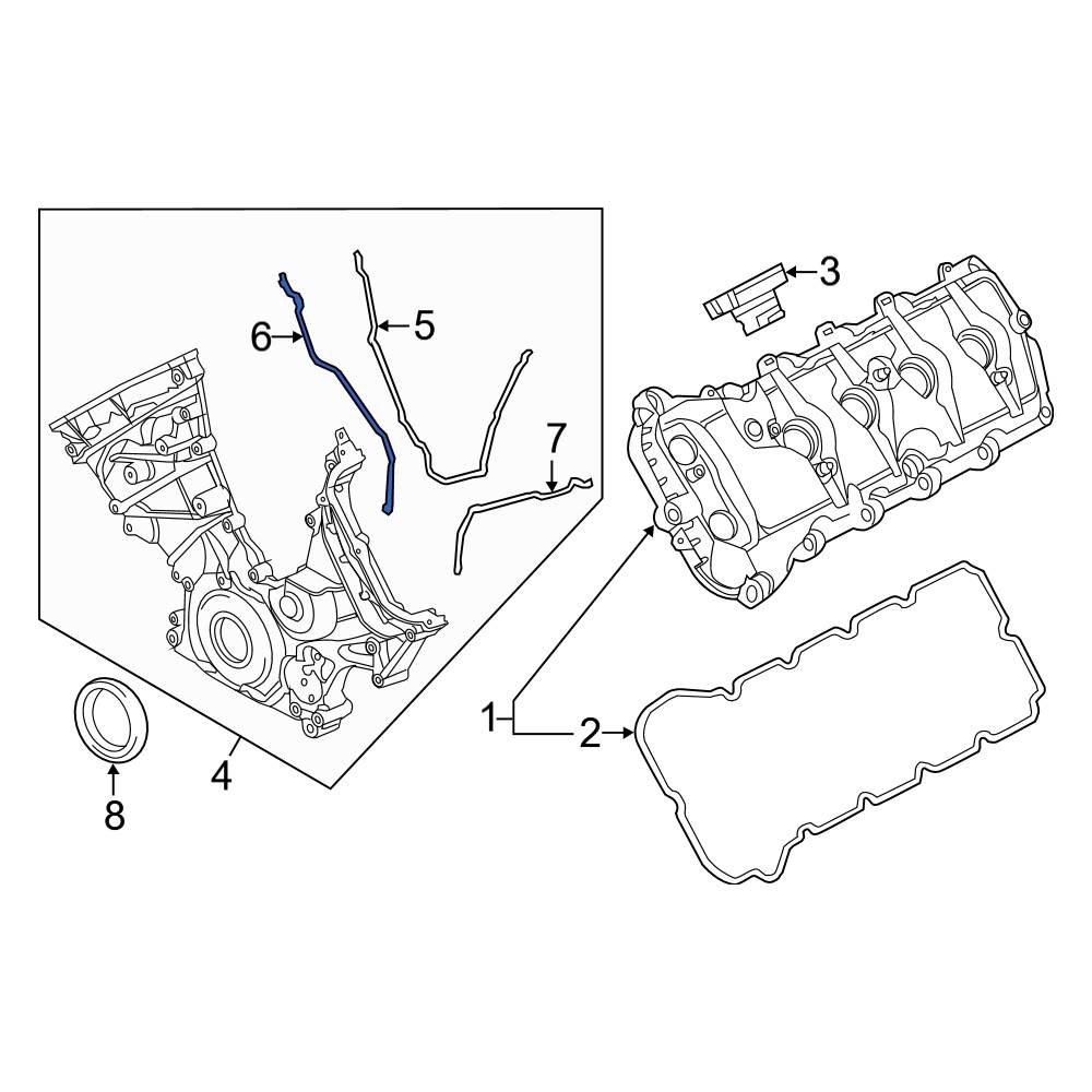 Genuine Ford Gasket BR3Z-6020-D