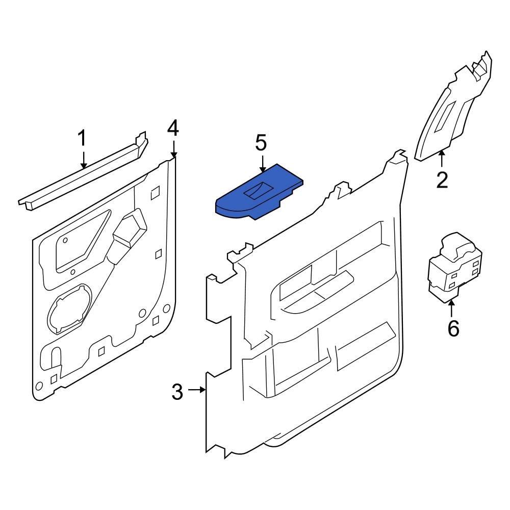 Genuine Ford Switch Bezel AL3Z-14527-BB
