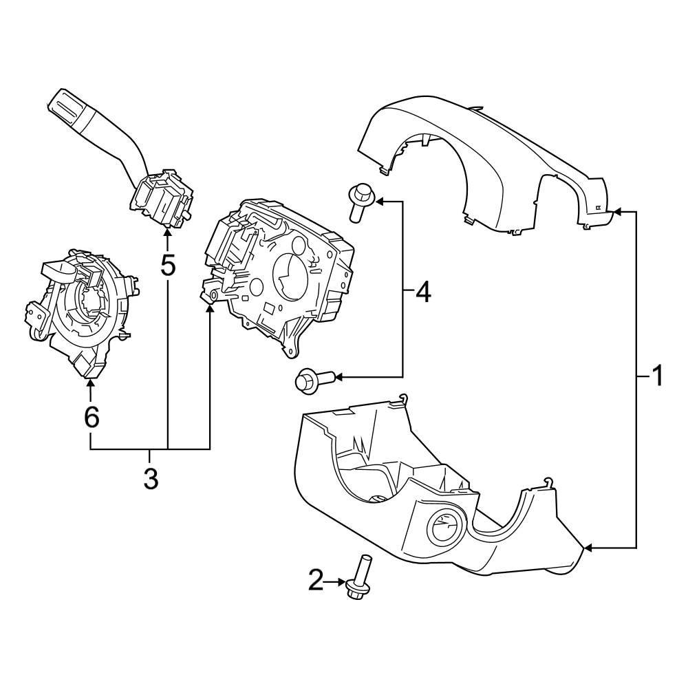ford f 150 steering column diagram ford oe ford f 150 2019 steering column shroud  switches   levers  ford f 150 2019 steering column
