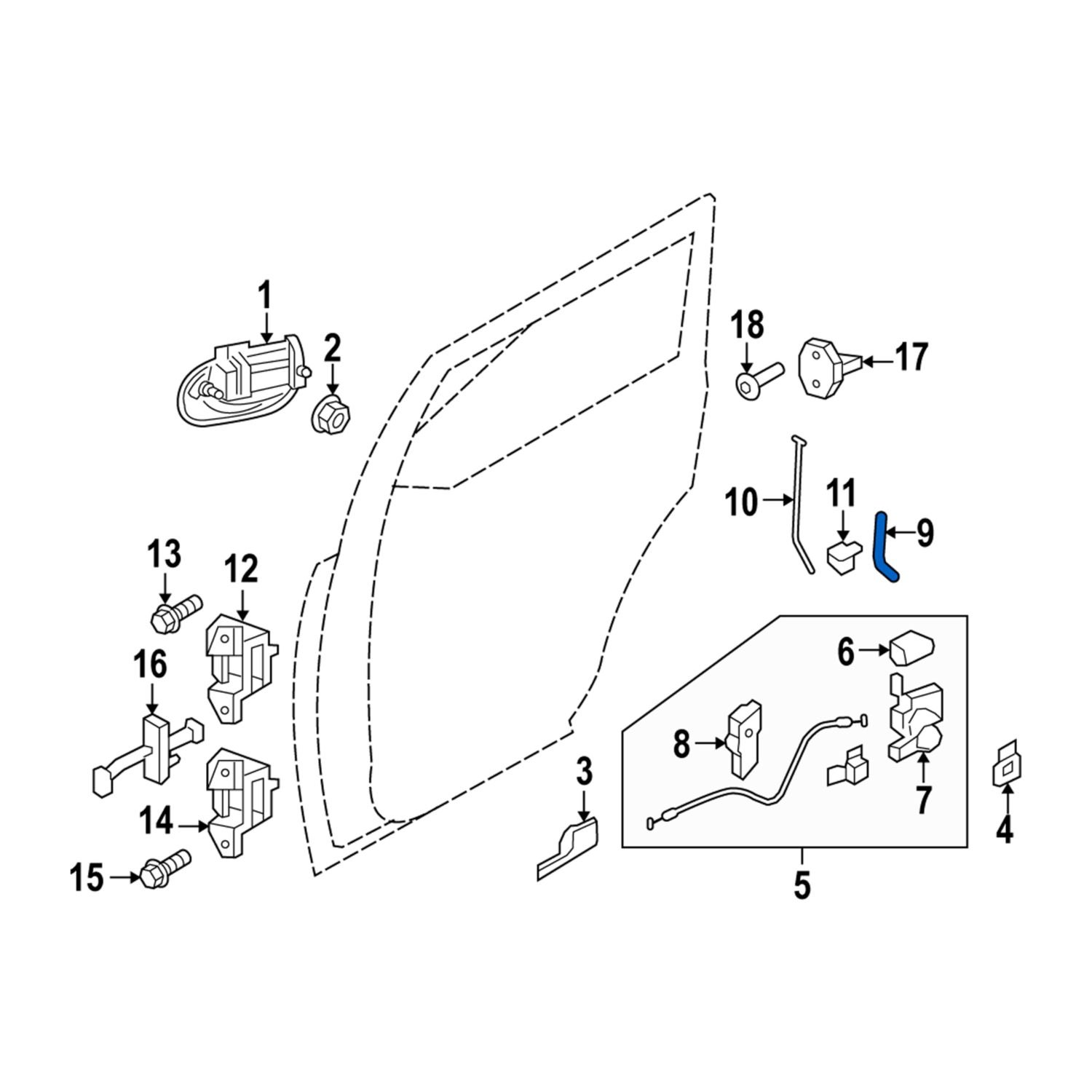 FORD OEM Front Door-Lock Rod Left 2L1Z7821853AAE