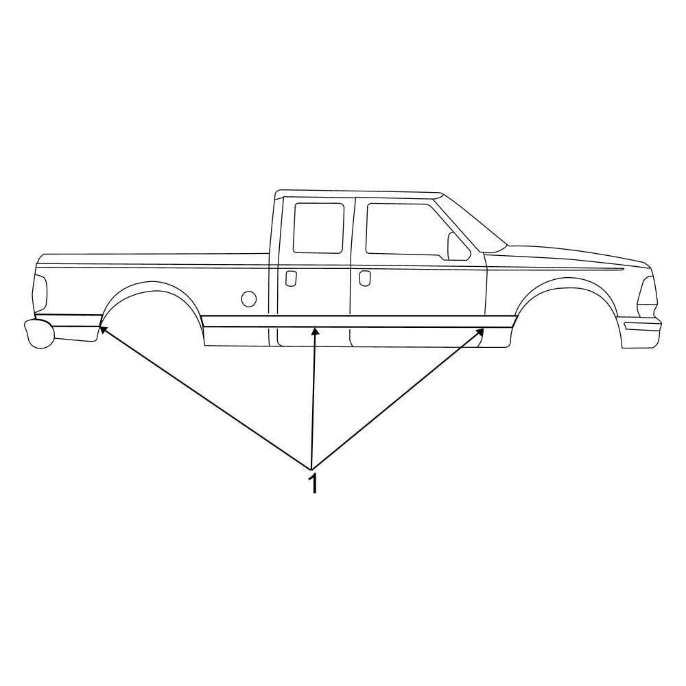 Genuine Ford F81Z-2520000-ABA Stripe Decal