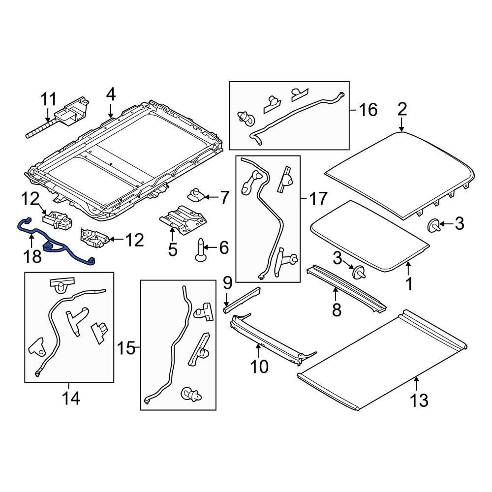 Ford OE BB5Z15A657A - Sunroof Wiring HarnessCARiD.com