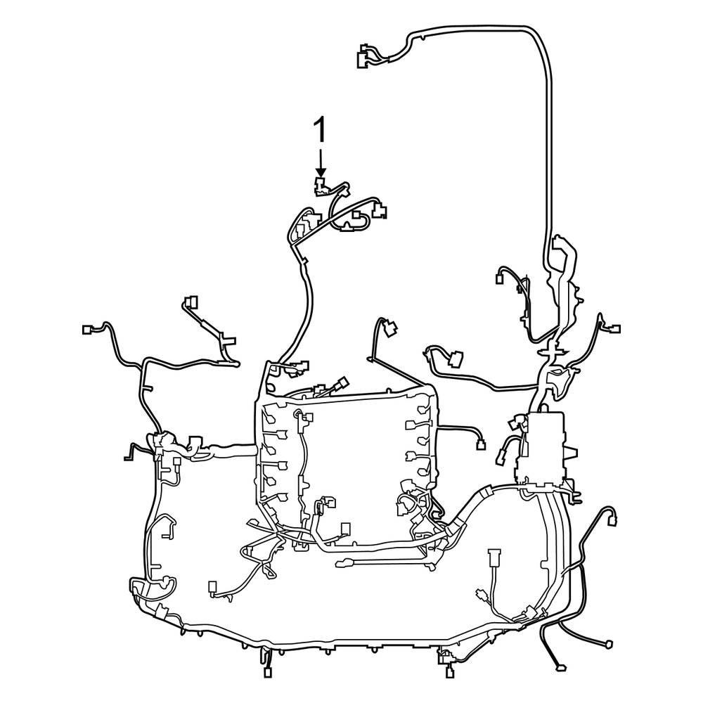 Ford OE 8A2Z14398JA - Engine Wiring Harness [ 3000 x 3000 Pixel ]