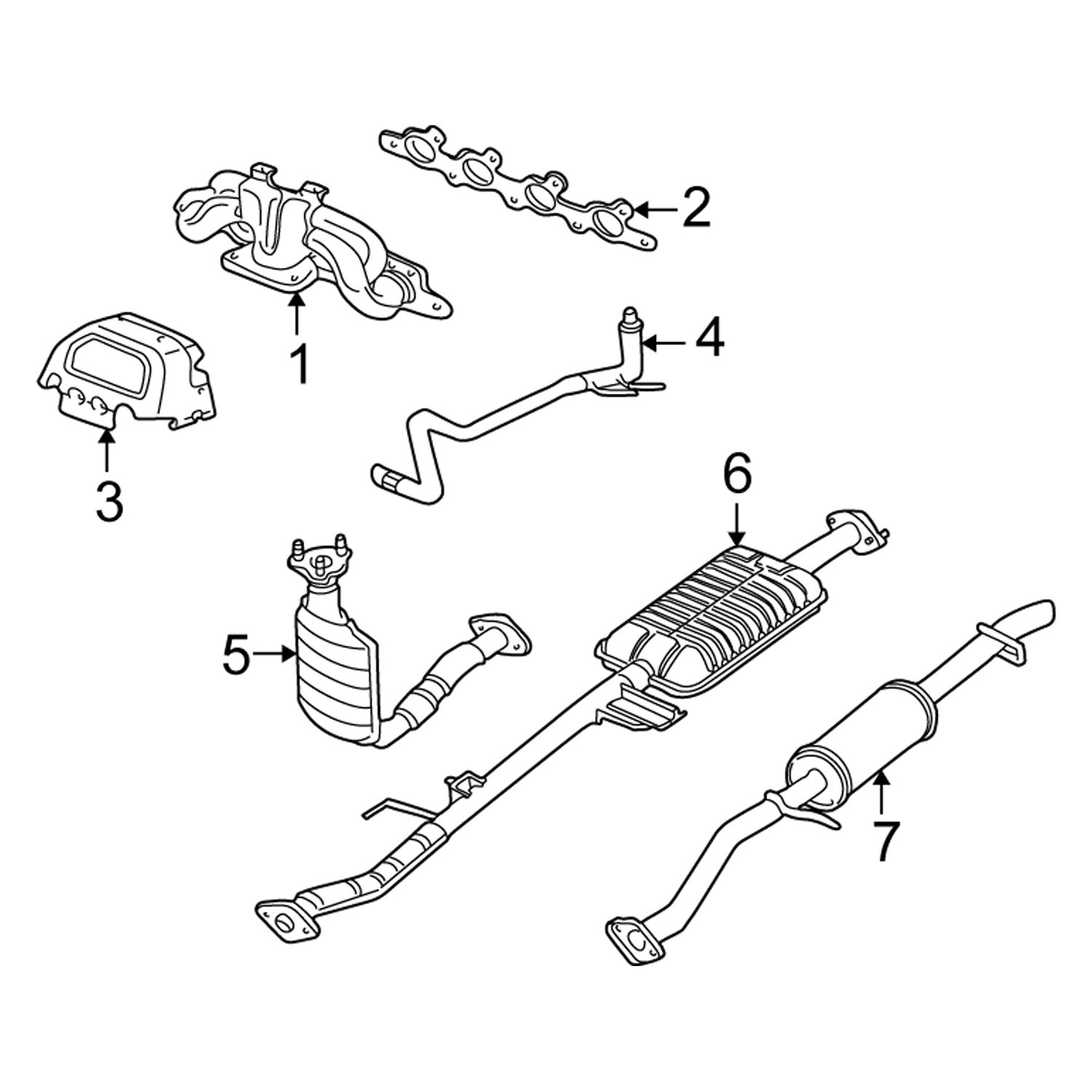 35 2001 Ford Escape Exhaust System Diagram