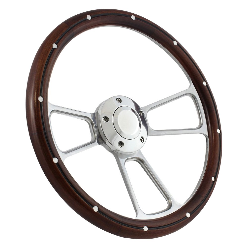 """14/"""" Real Oak Steering Wheel Half Wrap Forever Sharp Wheels Made in the USA!"""