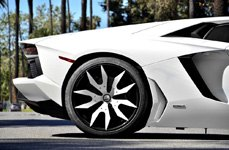 FORGIATO® - ARTIGLI Custom Painted on Lamborghini Aventador - Rear Wheel