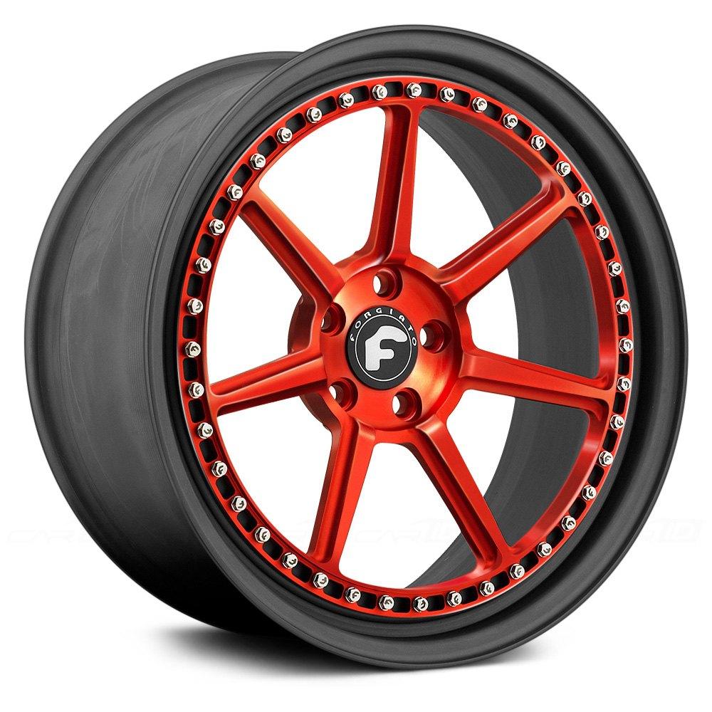 Black And Red Forgiato Rims