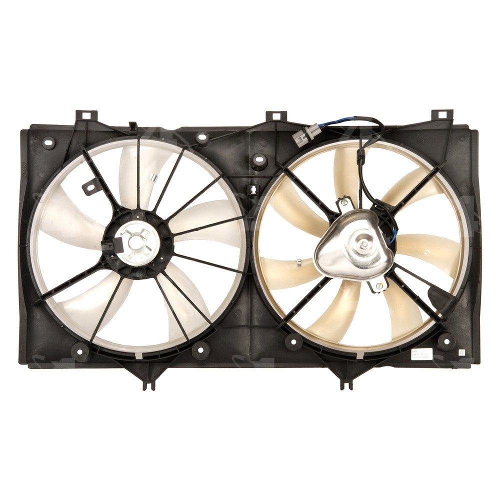 four seasons toyota camry 2008 2009 radiator condenser fan motor assembly. Black Bedroom Furniture Sets. Home Design Ideas