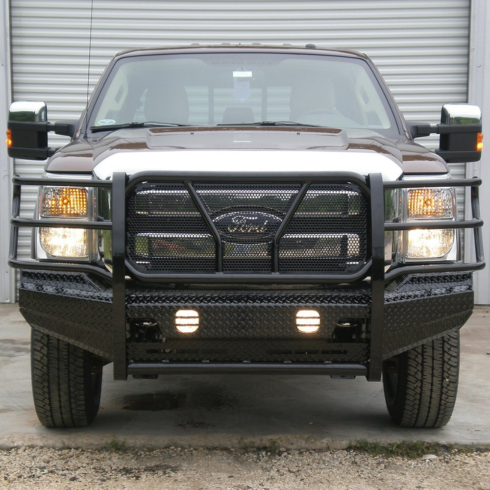 Ford Truck Bumpers : Frontier truck gear ford f full width black