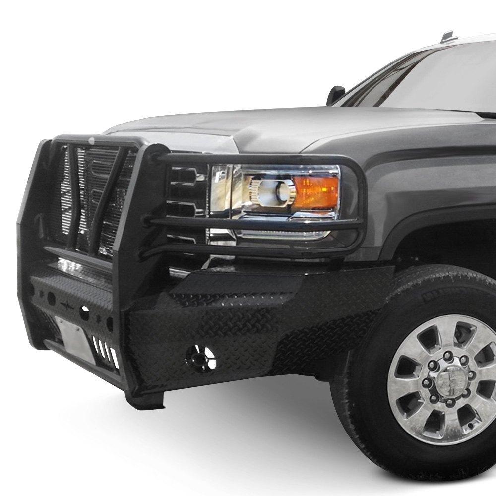 Car Bumper Guard >> Frontier Truck Gear® - GMC Sierra 2015 Full Width Black Front HD Bumper with Full Grille Guard