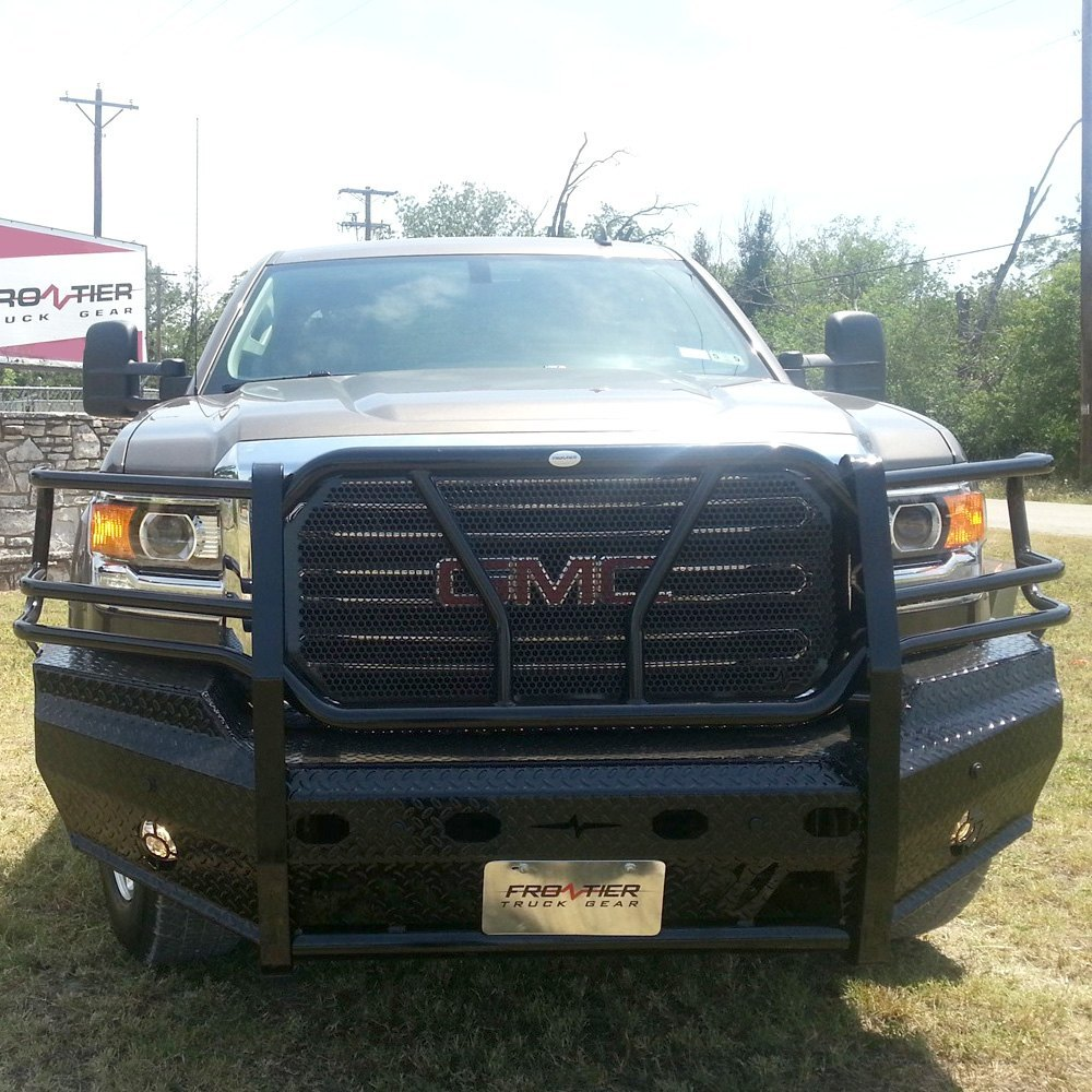 Truck Grill Guards And Bumpers : Frontier truck gear gmc sierra full width black