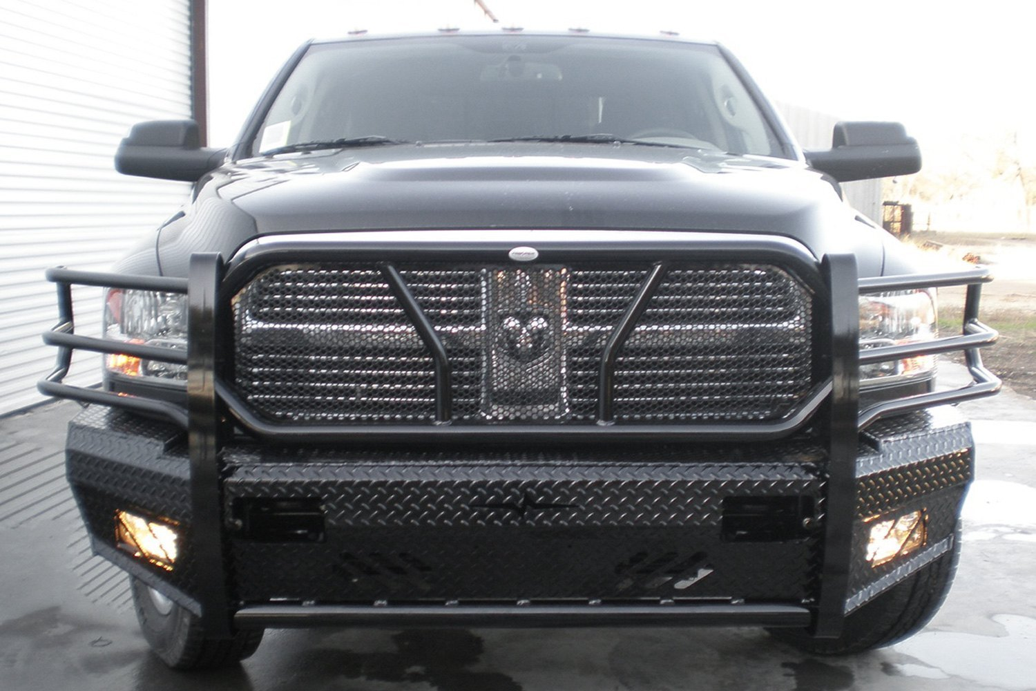Truck Grill Guards And Bumpers : Frontier truck gear full width black front hd bumper w