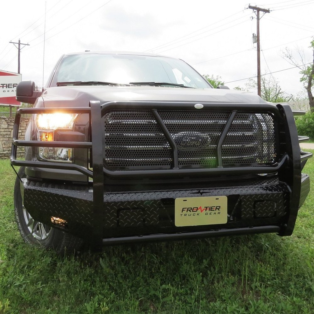 Truck Grill Guards And Bumpers : Frontier truck gear ford f full width black