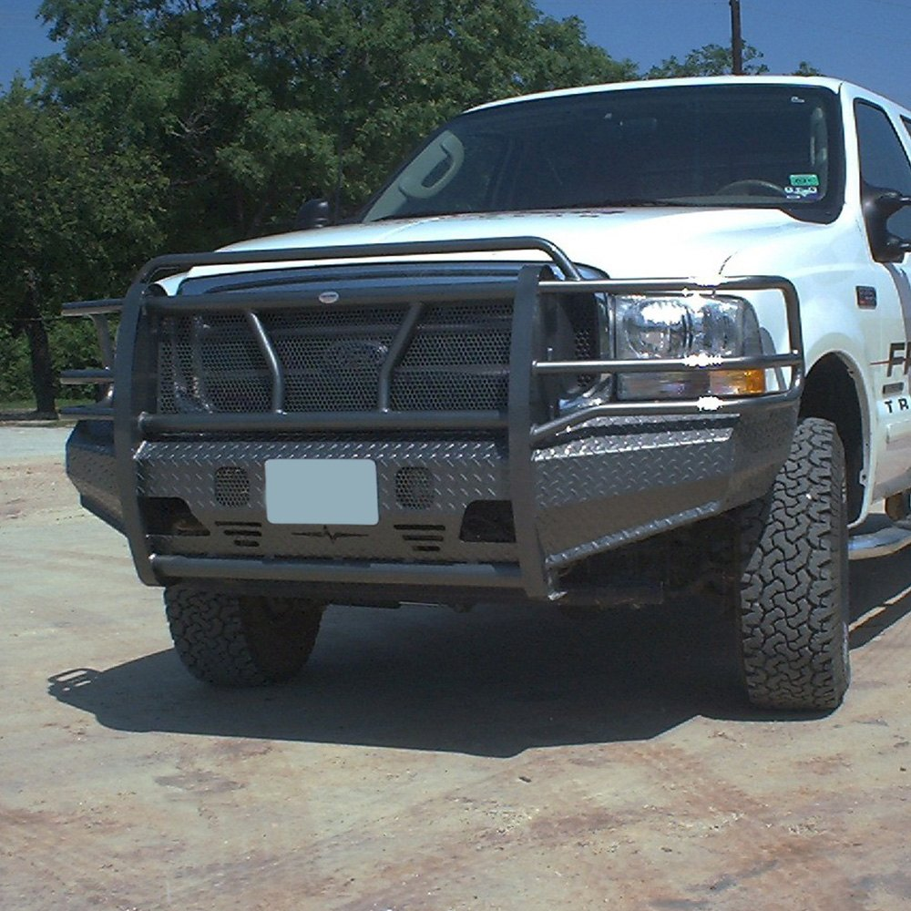 Truck Grill Guards And Bumpers : Frontier truck gear full width black front