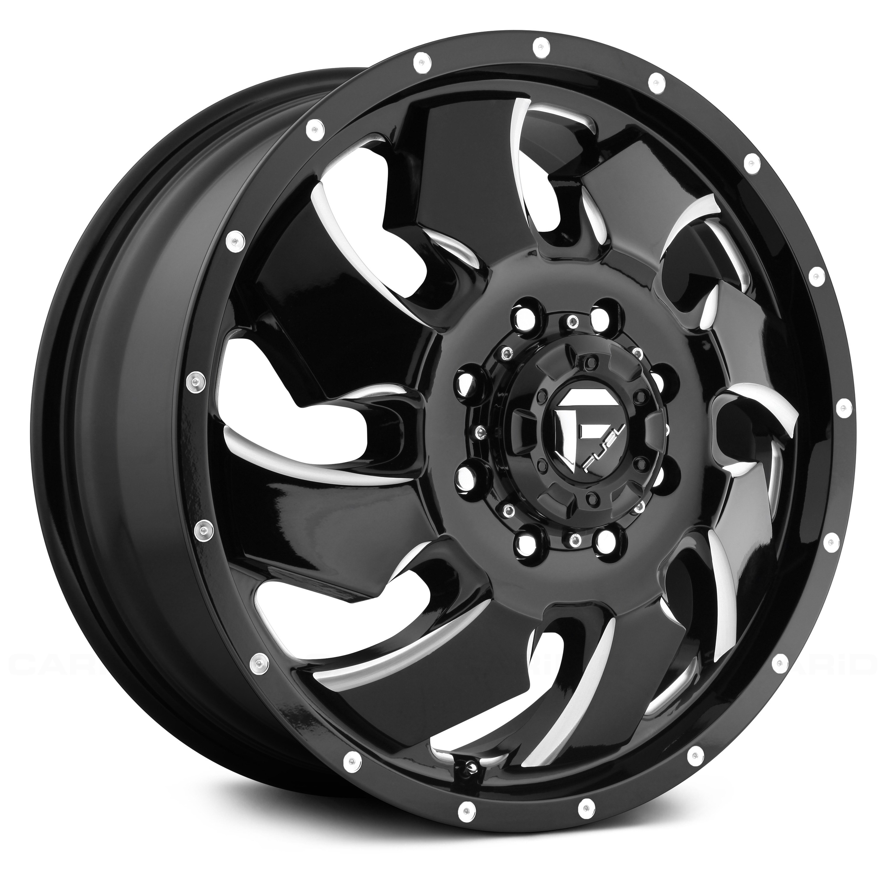 Fuel Dually Wheels >> Fuel D239 Dually Cleaver 2pc Black With Milled Accents