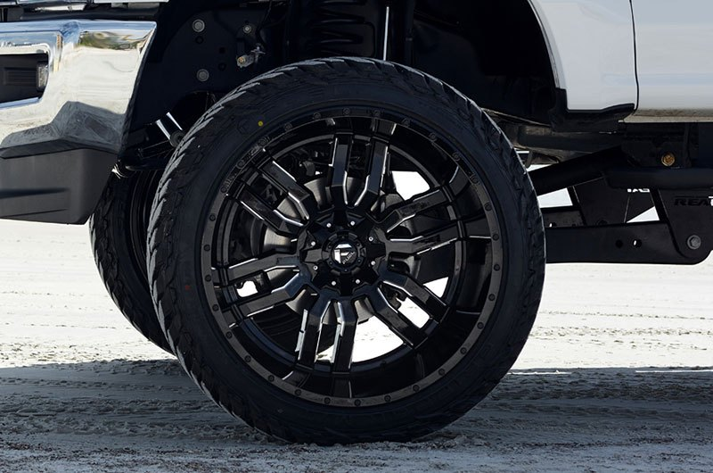 Fuel Wheels 20x9 >> Fuel D595 Sledge 1pc Gloss Black With Milled Accents