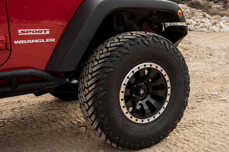 Fuel 174 D629 Tactic 1pc Wheels Black With Machined Lip Rims