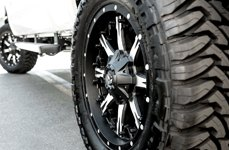 Fuel Nutz 1PC Black with Milled Spokes on Ford F-350
