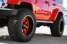FUEL® - Mud Gripper M/T Tires on Jeep Wrangler