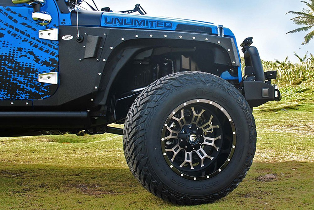 Jeep Black Rims >> FUEL® D268 CRUSH 2PC CAST CENTER Wheels - Gloss Black with Machined Face and Double Dark Tint Rims