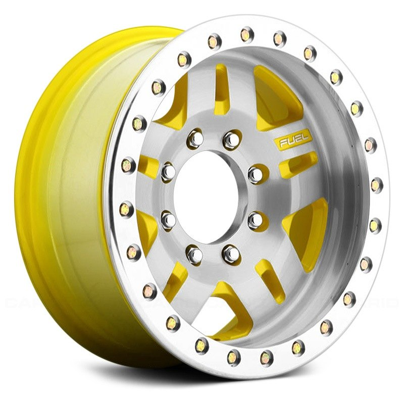 Fuel anza beadlock wheels unpainted with machined face for 17 inch d window wheels