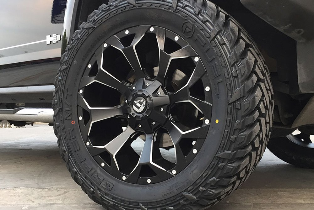 Fuel 174 D546 Assault 1pc Wheels Black With Milled Accents Rims