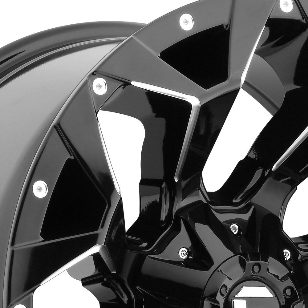 Fuel 174 D576 Assault 1pc Wheels Gloss Black With Milled