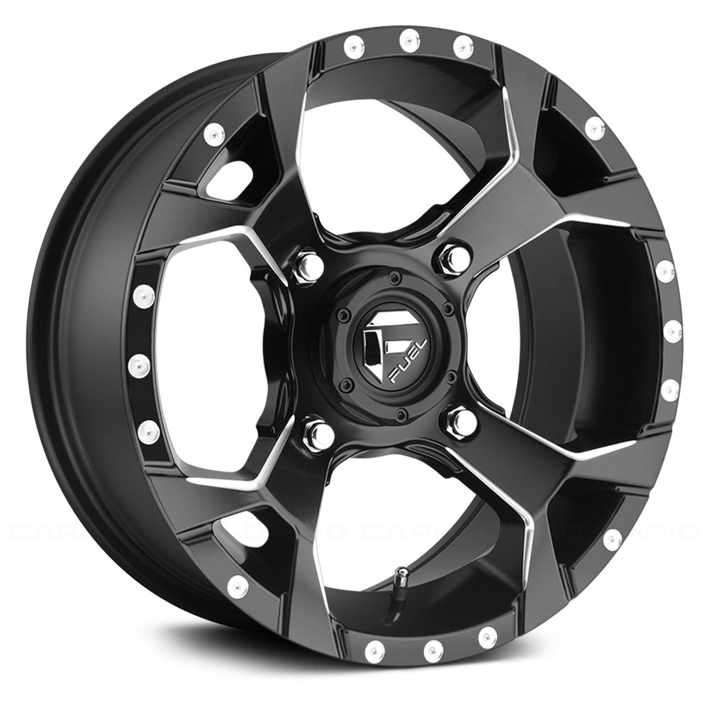 Fuel d546 assault utv wheels black with milled accents rims fuel d546 assault utv black with milled accents sciox Gallery