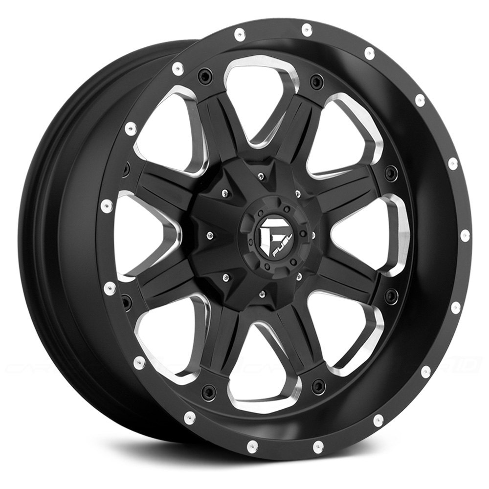 Fuel 174 Boost Wheels Black With Milled Accents Rims