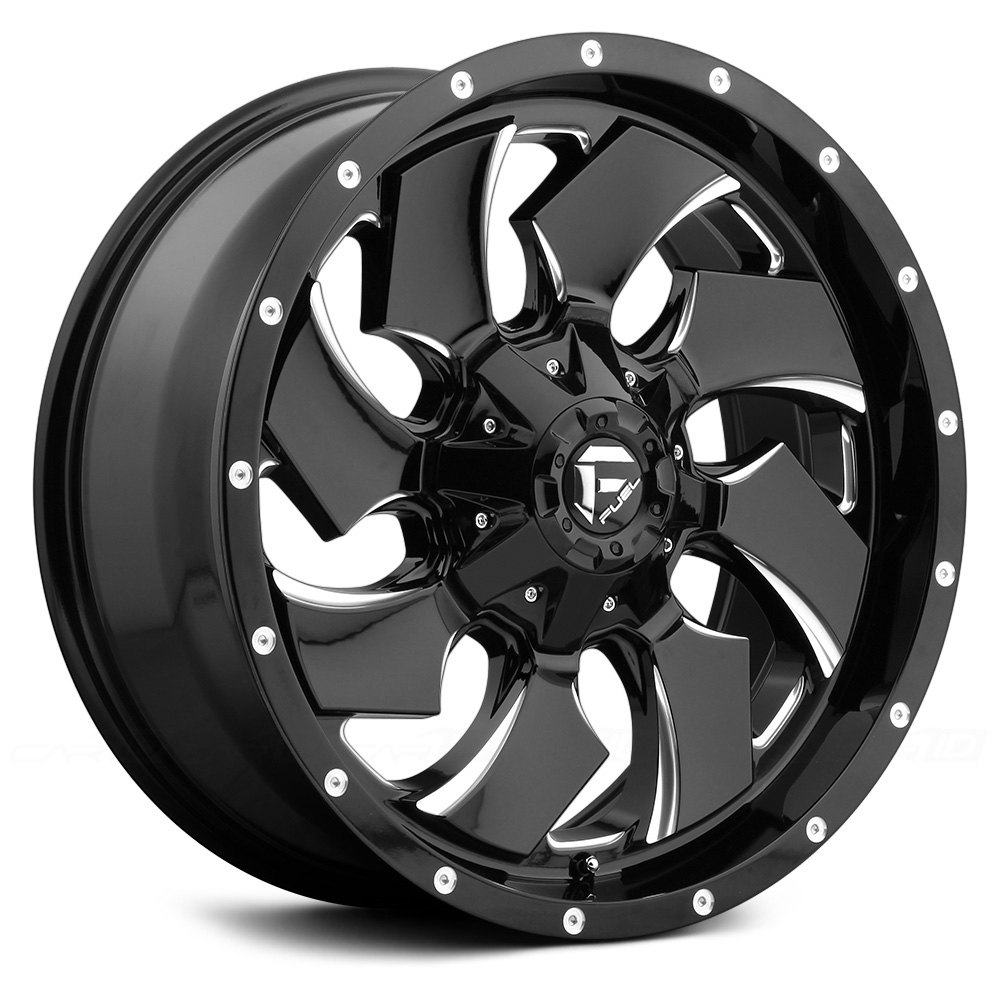FUEL® D574 CLEAVER 1PC Wheels - Gloss Black with Milled ...
