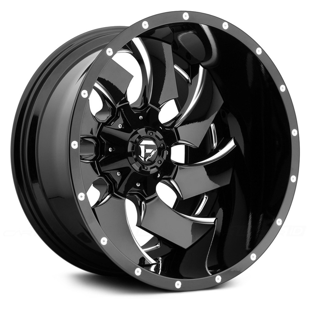 Fuel 174 Cleaver Wheels Gloss Black With Milled Accents Rims