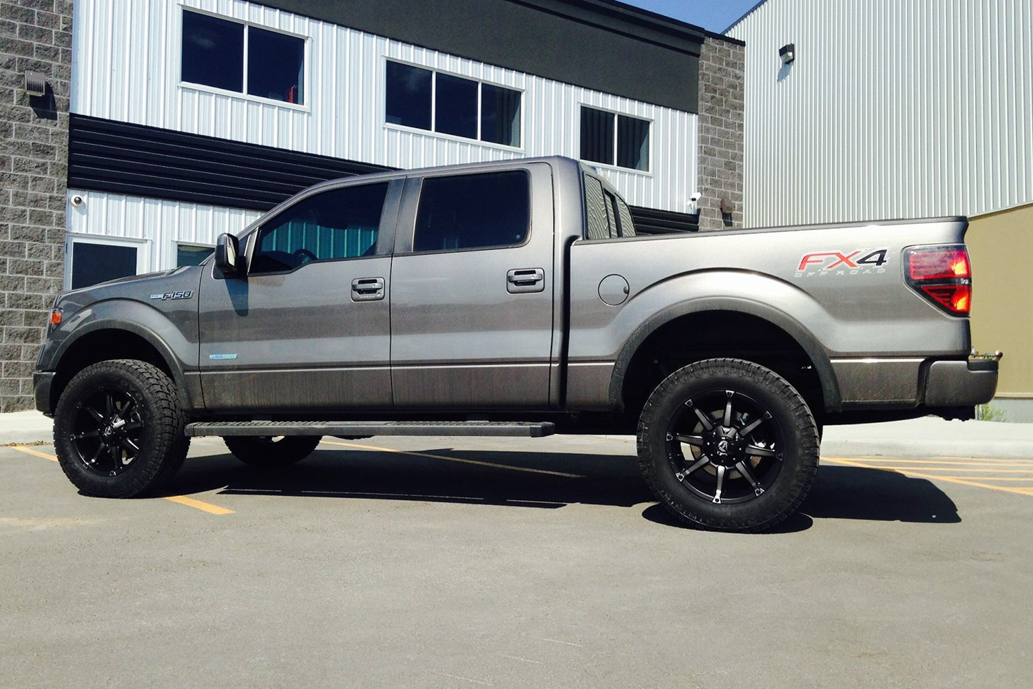 coupler black with machined face and double dark tint on ford f 150fuel