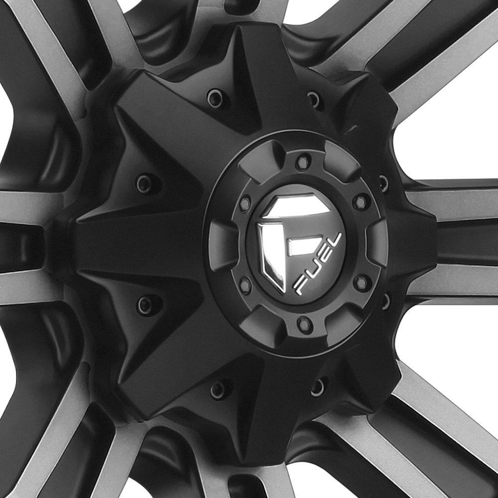 Jeep Wrangler 2016 Sport Bolt Pattern >> 20x10 FUEL Wheels -19 | 5x127 | 78.1 CRUSH 2PC CAST CENTER Rims Gloss Black Set | eBay